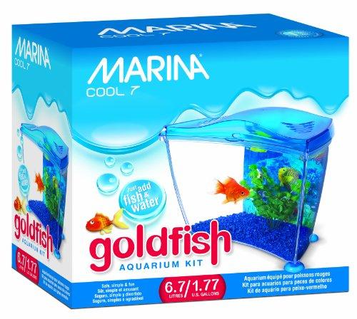 Marina Cool Goldfish Kit, Blue, Small/1.77-Gallon