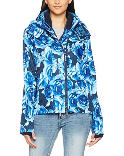 Superdry Windbreaker Black Flower Technical Windche blau/himmelblau
