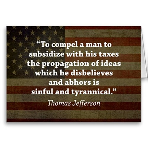 Thomas Jefferson Quote Greeting Card