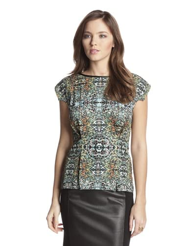 San & Soni Women's Stasia Medallion Print Top