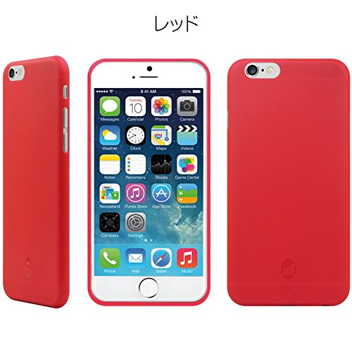 Color Block Collection Protection case for iPhone6 プロテクション ケース (レッド)