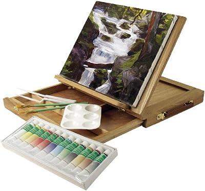 Art Advantage Wood Art Box Easel Paint Set