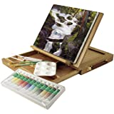 Wood Art Box Easel Paint Set