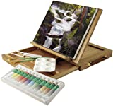 Art Advantage Wood Art Box Easel Paint Set
