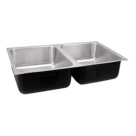 Just Double Bowl Undermount Group Stainless Steel Sink, UD-1832-A (Without Tappings)