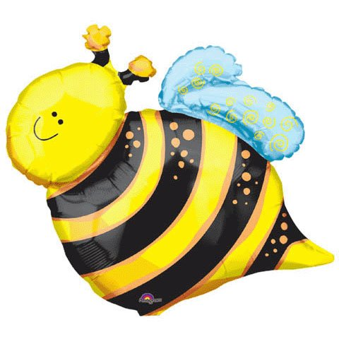 Anagram International Happy Bee Shape Foil Pack, 25""