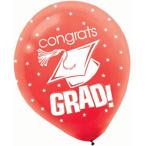 Congrats Grad Red with Stars Graduation