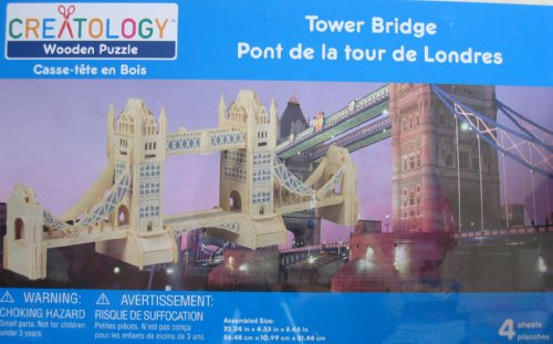 Creatology Wooden Puzzle: Tower Bridge