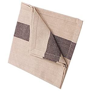 Christmas Gifts Set of 6 Cloth Napkins Hand Woven with Pure Cotton Beige Brown Stripes Kitchen Dining Accessories