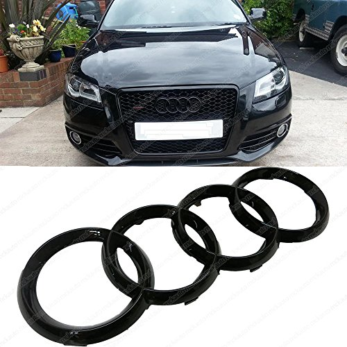 mck-auto-273x93mm-car-black-glossy-front-grille-badge-rings-logo-for-audi-a1-a3-a4-a5-a6