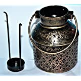 ADA Craft Traditional Rajasthani Handicraft Unique Metal Tealight Candle Holder Bucket Decorative Showpiece Item...