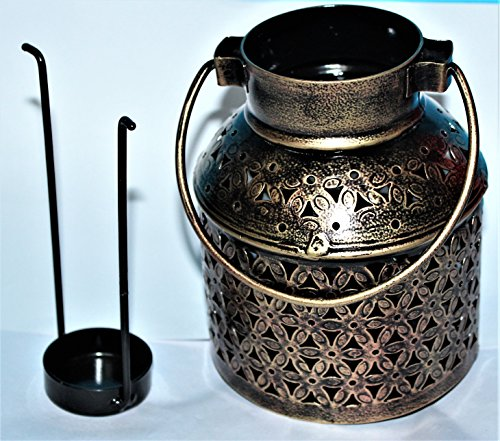ADA Craft Traditional Rajasthani Handicraft Unique Metal Tealight Candle Holder Bucket Decorative Showpiece Item...