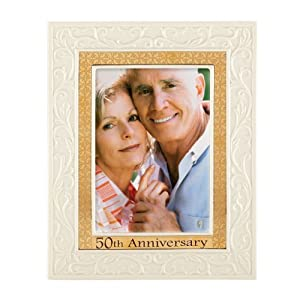 Lenox Portrait Gallery 50th Anniversary Luxury Frame, 5 by 7-Inch