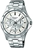 Casio Women's Quartz Watch with Silver Dial Analogue Display and Silver Stainless Steel Bracelet SHE-3801D-7ADR