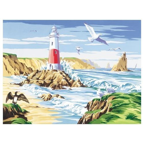 Reeves Large Painting By Numbers - The Lighthouse