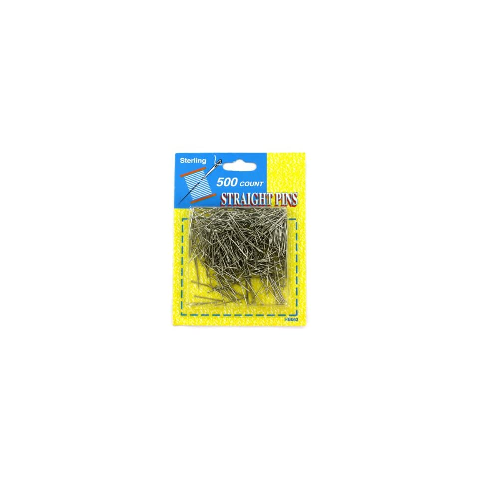Bulk Pack of 96   500 Pack straight pins (Each) By Bulk Buys
