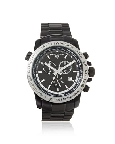 Swiss Legend Men's 10013-BB-11-SB World Timer Collection Black Watch