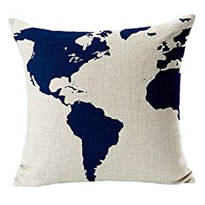 Vintage Mediterranean Capa Marine Style Throw Pillows Cover (A