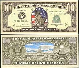 Set of 100 Bills-Traditional Million Dollar Bill IN FULL COLOR Wholesale