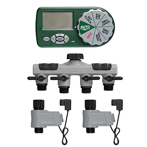 Orbit 58911 Complete Yard Watering Kit (Orbit Sprinkler Timer 4 Station compare prices)