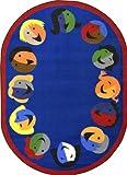Joy Carpets - Joyful Faces - Blue 5'4