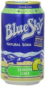 amazon com blue sky lemon lime soda 12 ounce cans pack