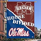 Mississippi Rebels vs. Mississippi State Bulldogs 27&quot; x 37&quot; House Divided Vertical Flag
