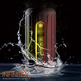 Orange Bolt Infinite X Outdoor Sports Bluetooth Speaker - Waterproof, Dustproof, Shockproof with Built-in Powerbank, LED light, Micro-SD card Slot