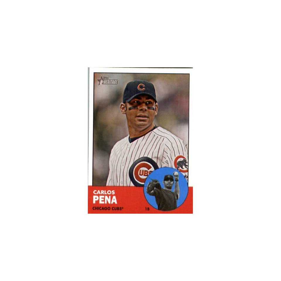 2012 Topps Heritage 380 Carlos Pena   Chicago Cubs   MLB Trading Card