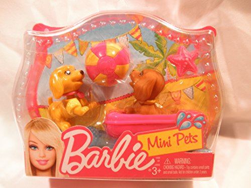 Barbie Mini Pets Beach Ball Fun Puppies - 1