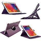 Etui Luxe Rotatif Violet pour Samsung Galaxy Tab Pro 10.1 SM-T520 T525 + STYLET et FILM OFFERTS !