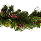 4.5' Artificial Red Berry Garland