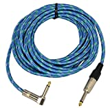 Professional Guitar Lead with Right Angle Jack 6m