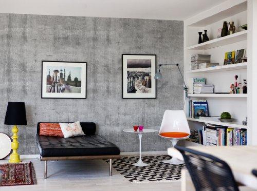 photos bild galeria tapete betonoptik. Black Bedroom Furniture Sets. Home Design Ideas