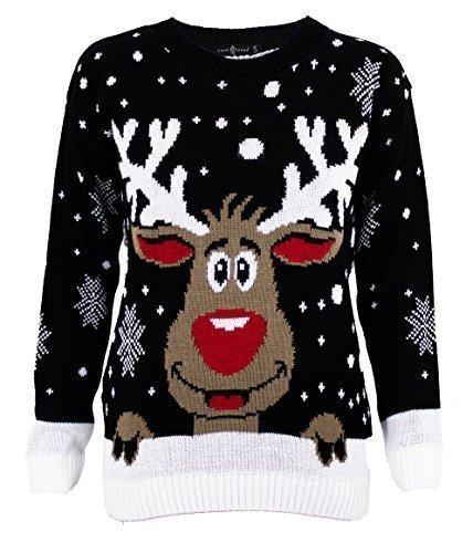 1KLICKGLOBAL-Pull-Tricot-Rudolph-Reindeer-de-Nol-Femmes-Hommes-Unisexe