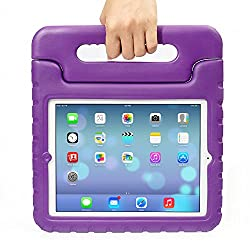 iPad Mini Case - Travellor® Kids Light Weight Kido Series Multi Function Convertible Handle Kickstand Kids Friendly Protective Shockproof Cover with Stand & Handle for Apple iPad Mini (Purple)