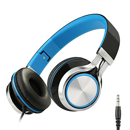 Sound Intone MS200 Cuffie Stereo Strong Bass Basso cuffie auricolari per smartphone Mp3 / 4 computer portatili Tablet Ipad Macbook pieghevole Gaming Auricolari (nero / blu)