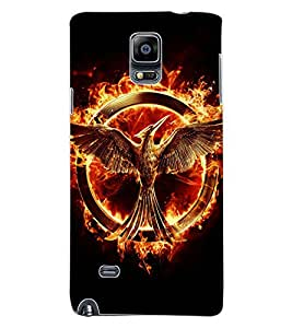ColourCraft Flaming Eagle Design Back Case Cover for SAMSUNG GALAXY NOTE 4
