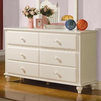 Coaster Pepper 6 Drawer Dresser in White Finish
