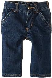 Carhartt Boys\' Denim Dungaree Jeans, Worn In Blue, 3 Months