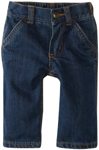 Carhartt Baby-Boys Infant Washed Denim Dungaree Jeans, Worn In Blue, 6 Months front-972620