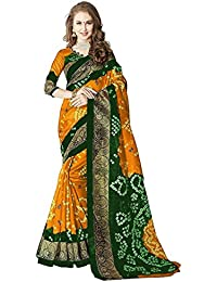 Saree (SRP Fashion Selection Women Cotton Silk Sarees With Blouse,Yellow)