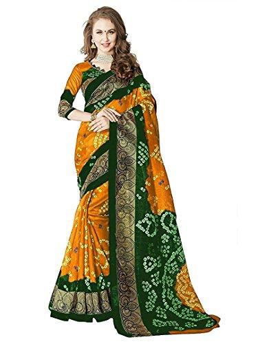 Saree (SRP Fashion Selection Women Cotton Silk Sarees With Blouse,Yellow)
