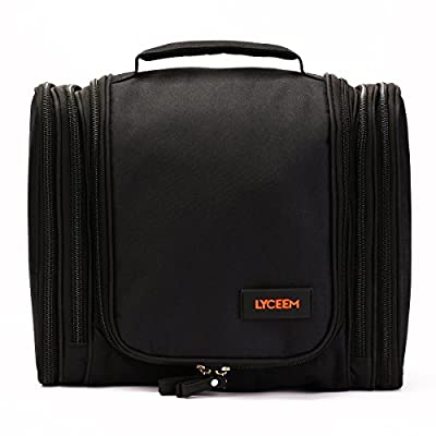 Best Cheap Deal for LYCEEM 5 Space Mens Hanging Toiletry Bag Travel Organzier Kit Black by LYCEEM - Free 2 Day Shipping Available