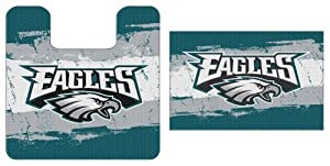 Philadelphia Eagles NFL Football 2pc Bathroom Mat Set by Forever Collectibles