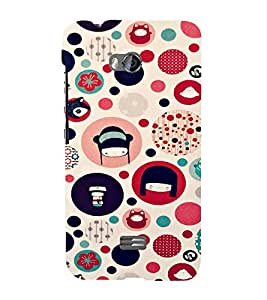 EPICCASE Cute Face Case Mobile Back Case Cover For Micromax Q336 (Designer Case)