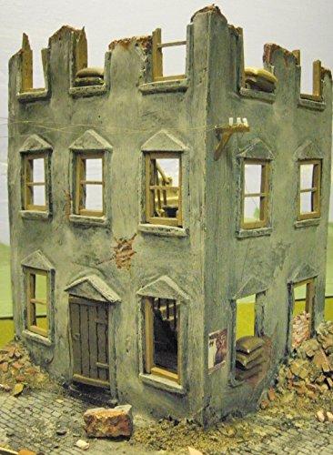 1-35-scale-ruined-corner-house-model-military-model-kit-diorama