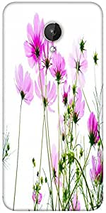 Snoogg Pink Cosmos 2681 Designer Protective Back Case Cover For Micromax Canvas Spark Q380