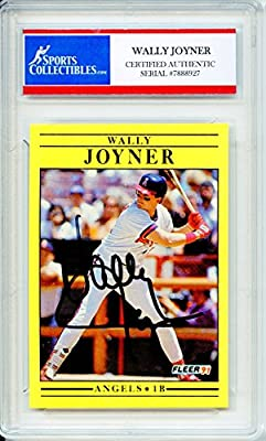 Wally Joyner Autographed Los Angeles Angels of Anaheim Encapsulated Trading Card
