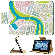 buy Asus Google Nexus 7 1St Generation 2012 Model Flip Case Abstract Illustration Of A City Map With River